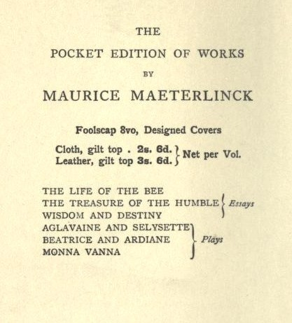 PocketEditionofWorksbyMauriceMaeterlinck(GeorgeAllen,1910).jpg