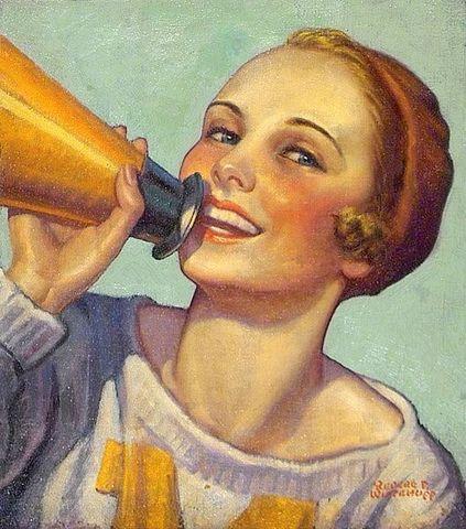 cheerleader-yelling-into-megaphone_Revere F. Wistehuff (1900 – 1971).jpg